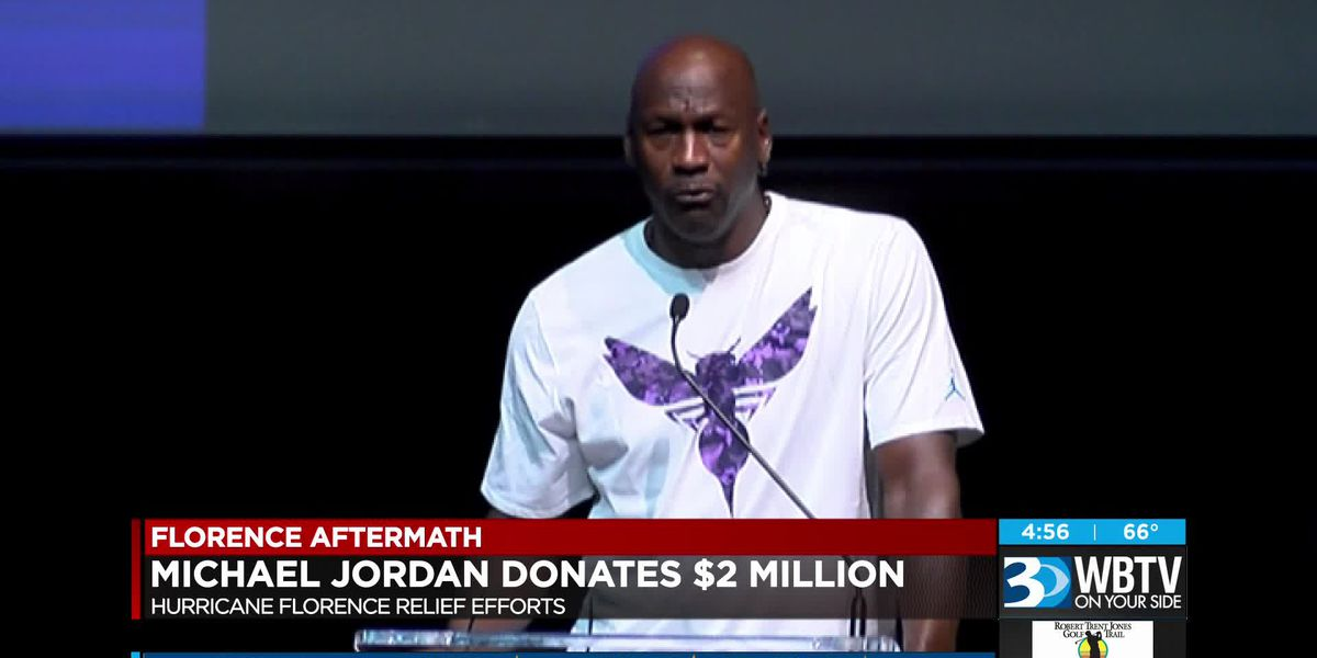 Michael Jordan donates 2 million to Florence relief
