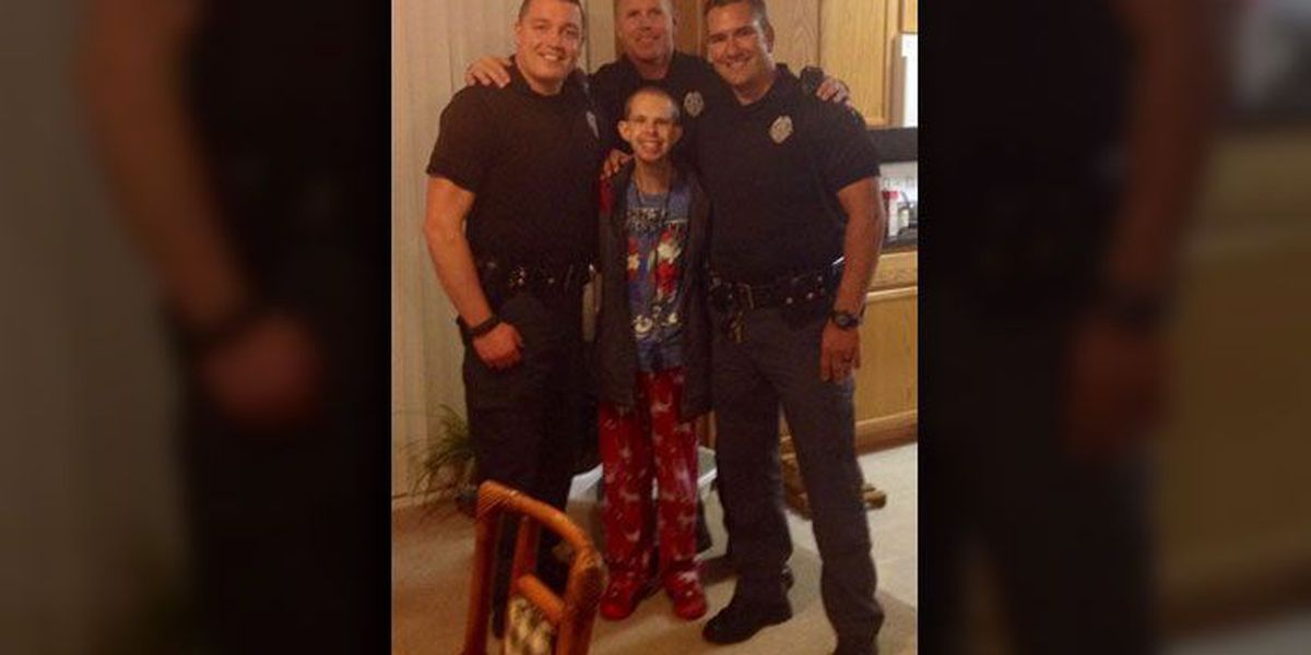 Waxhaw Police officer brings presents for young man with special needs