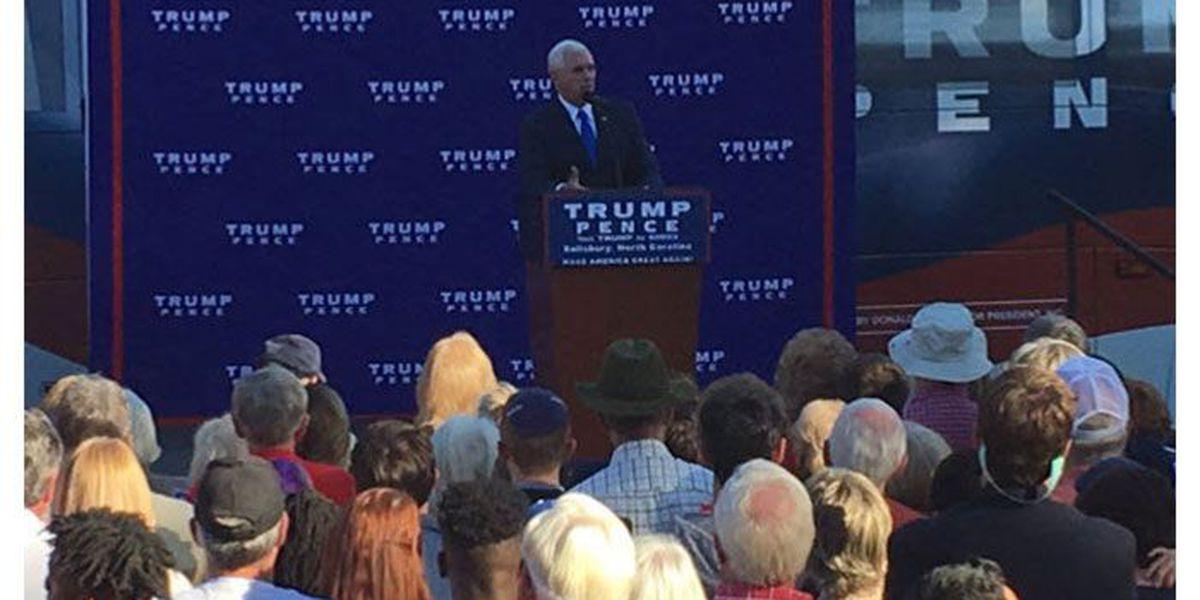 Republican VP candidate Mike Pence speaks in Salisbury