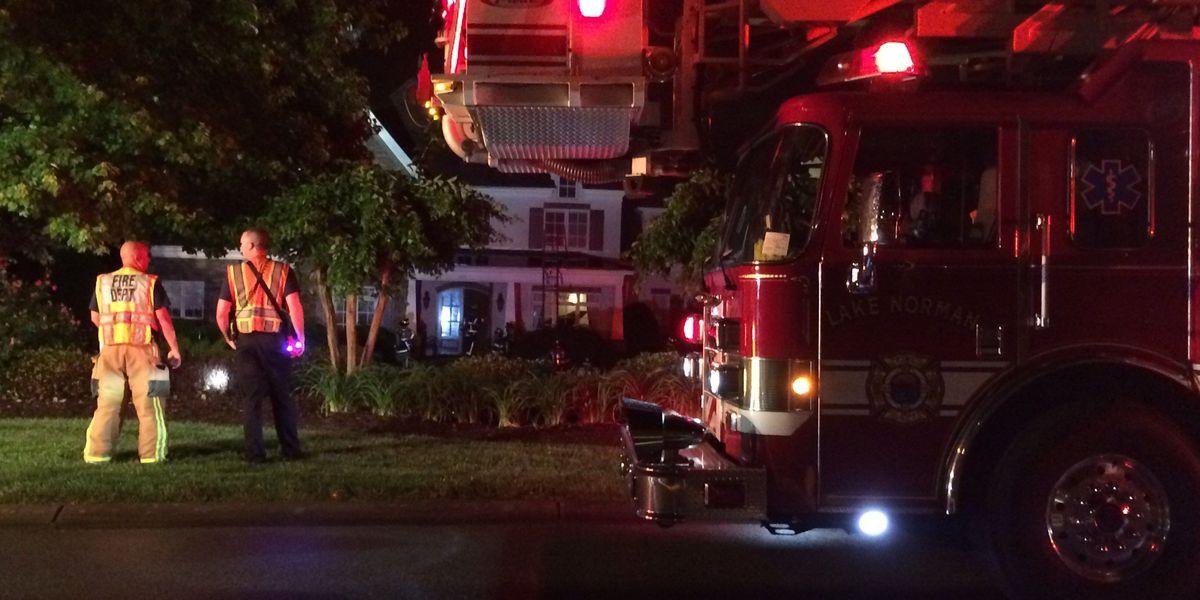 Lightning strike causes Lake Norman house fire, no one injured