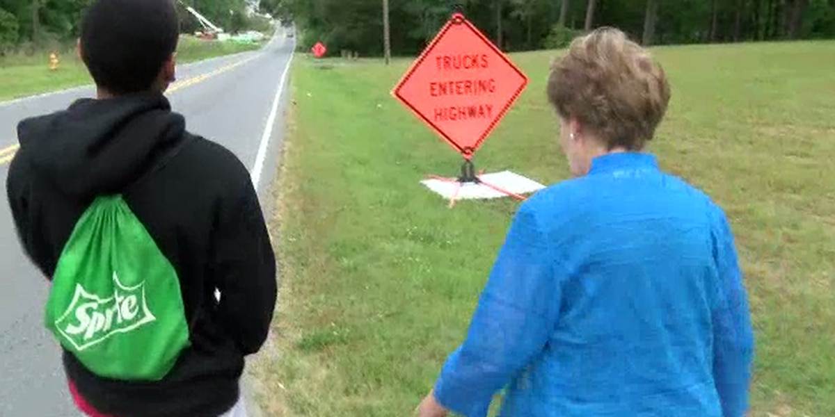 Meck Co. commissioner walks student home to see 'dangerous route' first-hand after WBTV report