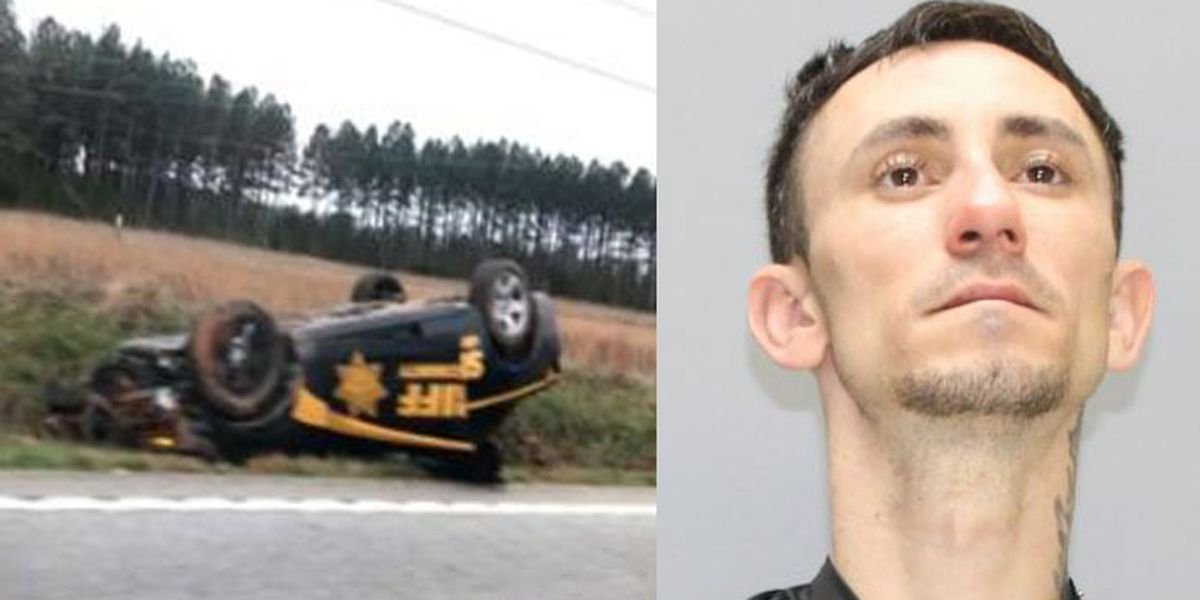 Man accused of stealing S.C. deputy's patrol car, wrecking it