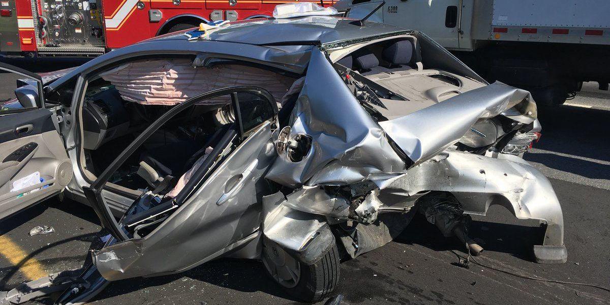 Four injured in five-vehicle crash in Gastonia