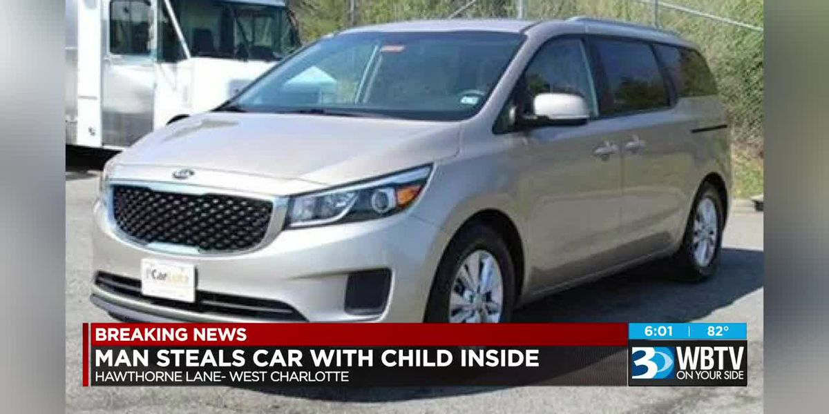 Man steals car with child inside