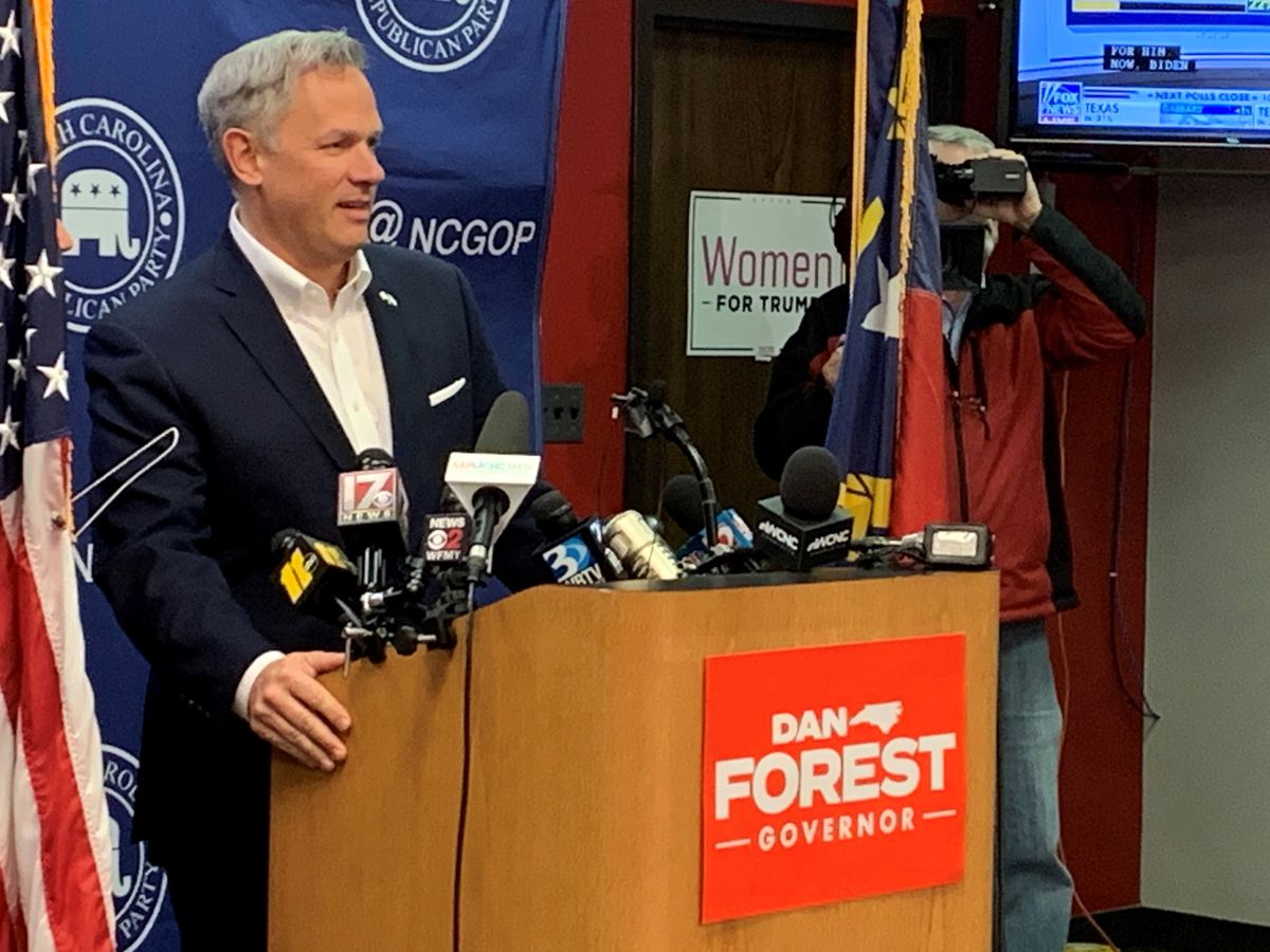 Forest files lawsuit challenging N.C. governor's orders