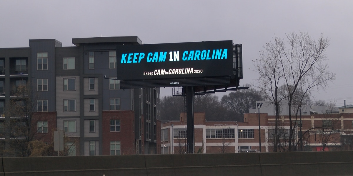 'Keep Cam in Carolina'; Panthers fans put up billboards in Charlotte to support Cam Newton