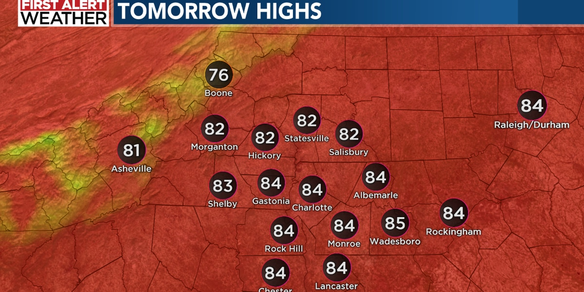 Cool mornings and warm afternoons continue for Labor Day Weekend