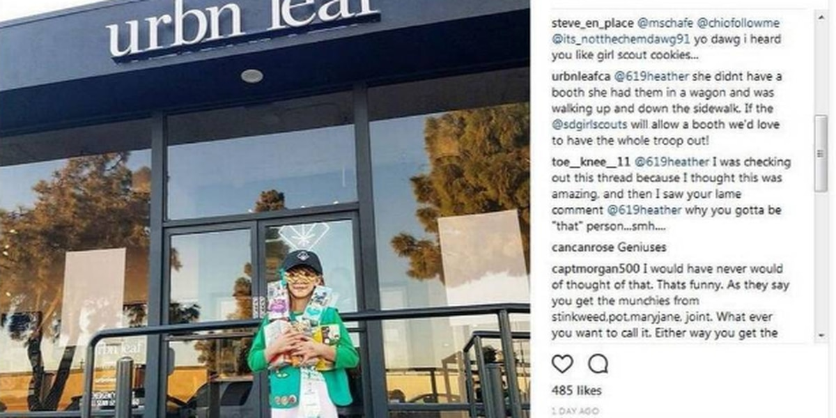 Girl Scouts look into whether cookie seller near pot shop broke rules