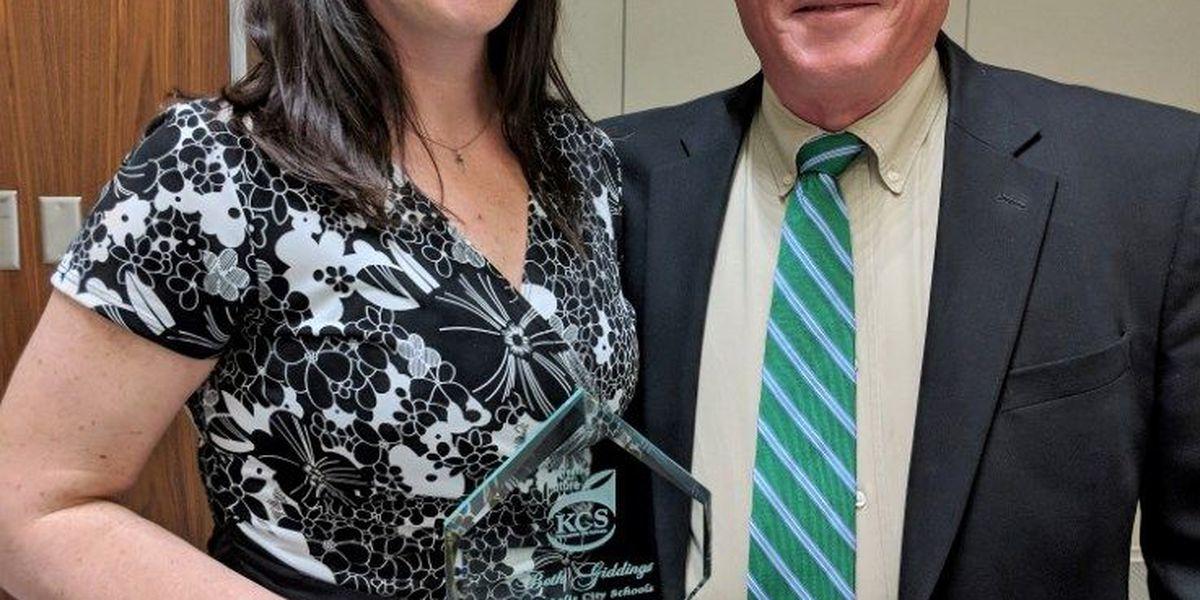 Giddings named Kannapolis Teacher of the Year